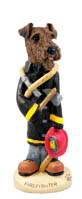 Airedale Fireman Doogie Collectable Figurine
