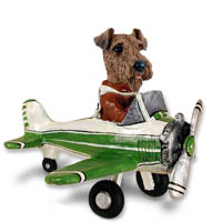 Airedale Airplane Doogie Collectable Figurine