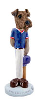 Airedale Baseball Doogie Collectable Figurine