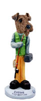 Airedale Fisherman Doogie Collectable Figurine