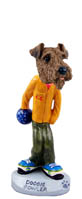 Airedale Bowler Doogie Collectable Figurine