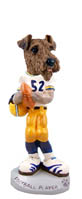 Airedale Football Player Doogie Collectable Figurine