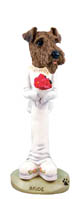 Airedale Bride Doogie Collectable Figurine