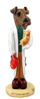 Airedale Veterinarian Doogie Collectable Figurine