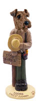Airedale Forest Ranger Doogie Collectable Figurine