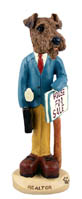 Airedale Realtor (male) Doogie Collectable Figurine