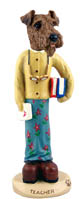 Airedale Teacher (female) Doogie Collectable Figurine