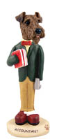 Airedale Accountant Doogie Collectable Figurine