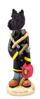 Scottish Terrier Fireman Doogie Collectable Figurine