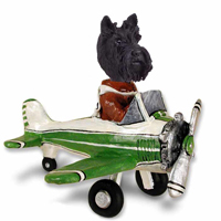 Scottish Terrier Airplane Doogie Collectable Figurine