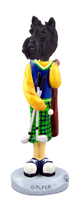 Scottish Terrier Golf Doogie Collectable Figurine