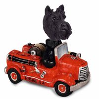 Scottish Terrier Fire Engine Doogie Collectable Figurine