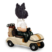 Scottish Terrier Golf Cart Doogie Collectable Figurine