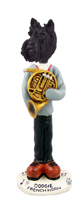 Scottish Terrier French Horn Doogie Collectable Figurine