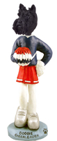 Scottish Terrier Cheerleader Doogie Collectable Figurine