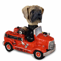 Mastiff Fire Engine Doogie Collectable Figurine