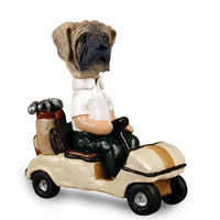 Mastiff Golf Cart Doogie Collectable Figurine
