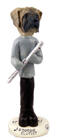 Mastiff Flutist Doogie Collectable Figurine