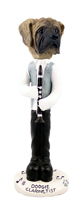 Mastiff Clarinetist Doogie Collectable Figurine