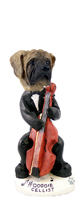 Mastiff Cellist Doogie Collectable Figurine