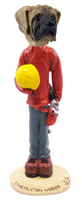 Mastiff Construction Worker Doogie Collectable Figurine