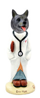 Norwegian Elkhound Doctor Doogie Collectable Figurine