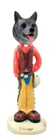 Norwegian Elkhound Cowboy Doogie Collectable Figurine