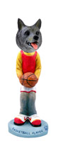 Norwegian Elkhound Basketball Doogie Collectable Figurine