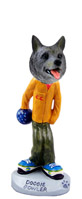 Norwegian Elkhound Bowler Doogie Collectable Figurine