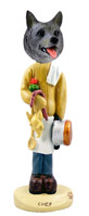 Norwegian Elkhound Chef Doogie Collectable Figurine