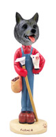 Norwegian Elkhound Farmer Doogie Collectable Figurine
