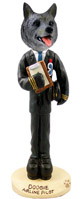 Norwegian Elkhound Airline Pilot Doogie Collectable Figurine