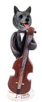 Norwegian Elkhound Bassist Doogie Collectable Figurine