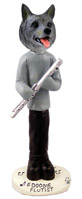 Norwegian Elkhound Flutist Doogie Collectable Figurine