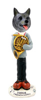 Norwegian Elkhound French Horn Doogie Collectable Figurine