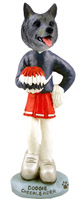 Norwegian Elkhound Cheerleader Doogie Collectable Figurine