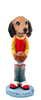 Dachshund Longhaired Red Basketball Doogie Collectable Figurine