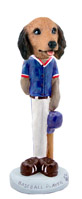 Dachshund Longhaired Red Baseball Doogie Collectable Figurine