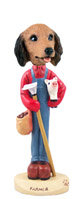 Dachshund Longhaired Red Farmer Doogie Collectable Figurine