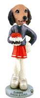 Dachshund Longhaired Red Cheerleader Doogie Collectable Figurine