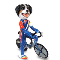 Bernese Mountain Dog Bicycle Doogie Collectable Figurine