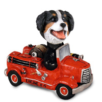 Bernese Mountain Dog Fire Engine Doogie Collectable Figurine