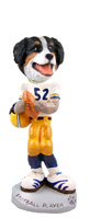 Bernese Mountain Dog Football Player Doogie Collectable Figurine