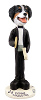 Bernese Mountain Dog Conductor Doogie Collectable Figurine