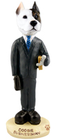 Pit Bull Terrier Businessman Doogie Collectable Figurine