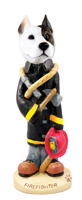 Pit Bull Terrier Fireman Doogie Collectable Figurine