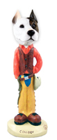 Pit Bull Terrier Cowboy Doogie Collectable Figurine