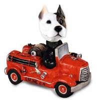 Pit Bull Terrier Fire Engine Doogie Collectable Figurine