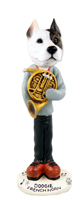 Pit Bull Terrier French Horn Doogie Collectable Figurine