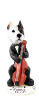 Pit Bull Terrier Cellist Doogie Collectable Figurine